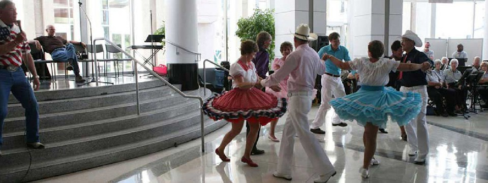 Dancing at Orlando City Hall