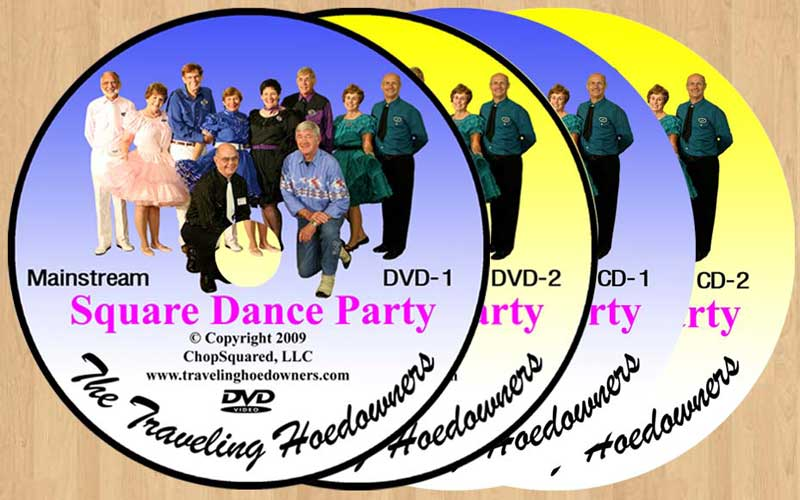 Square Dance Party DVDs (2) and CDs (2)